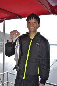 Salmon fishing Lake Mapourika Lake Tours