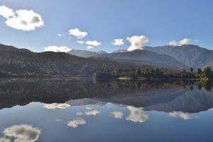 reflections on lake mapourika