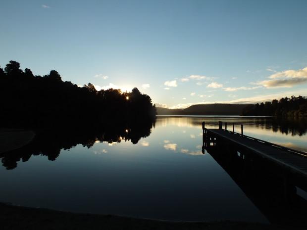 Sunset on Lake Mapourika