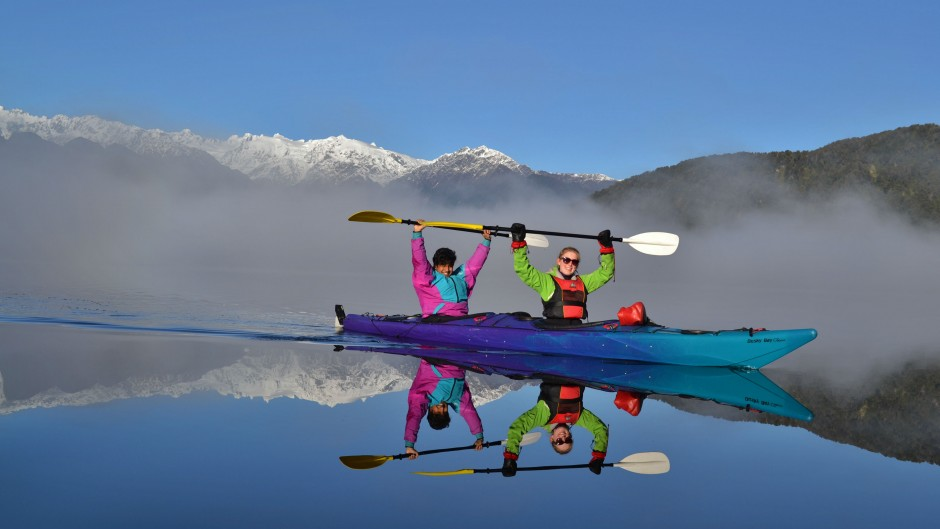 Winter paddling! We're out there year round :)