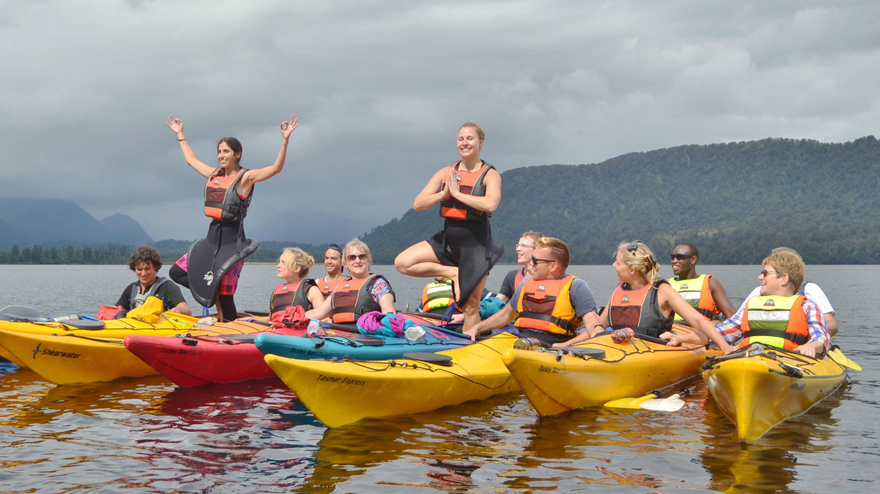 Kayak-yoga session this morning!