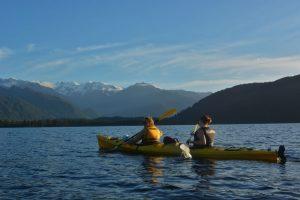 glacier kayaks sunset classic