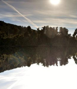 Lake Mapourika Kayaking Reflection