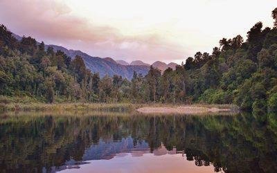 Sunset Tours on Lake Mapourika, West Coast