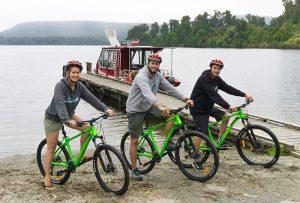 lake mapourika by bike