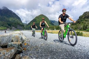 Mountain bikes in Franz Josef