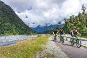 bikes riding to Franz Josef
