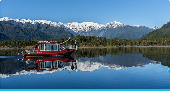 Scenic Boat Tour On Lake Mapourika In Franz Josef