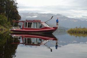 The Hanna K on Lake Mapourika